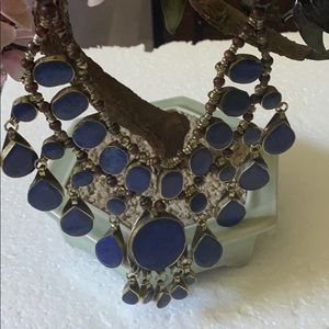 Antique lapis necklace